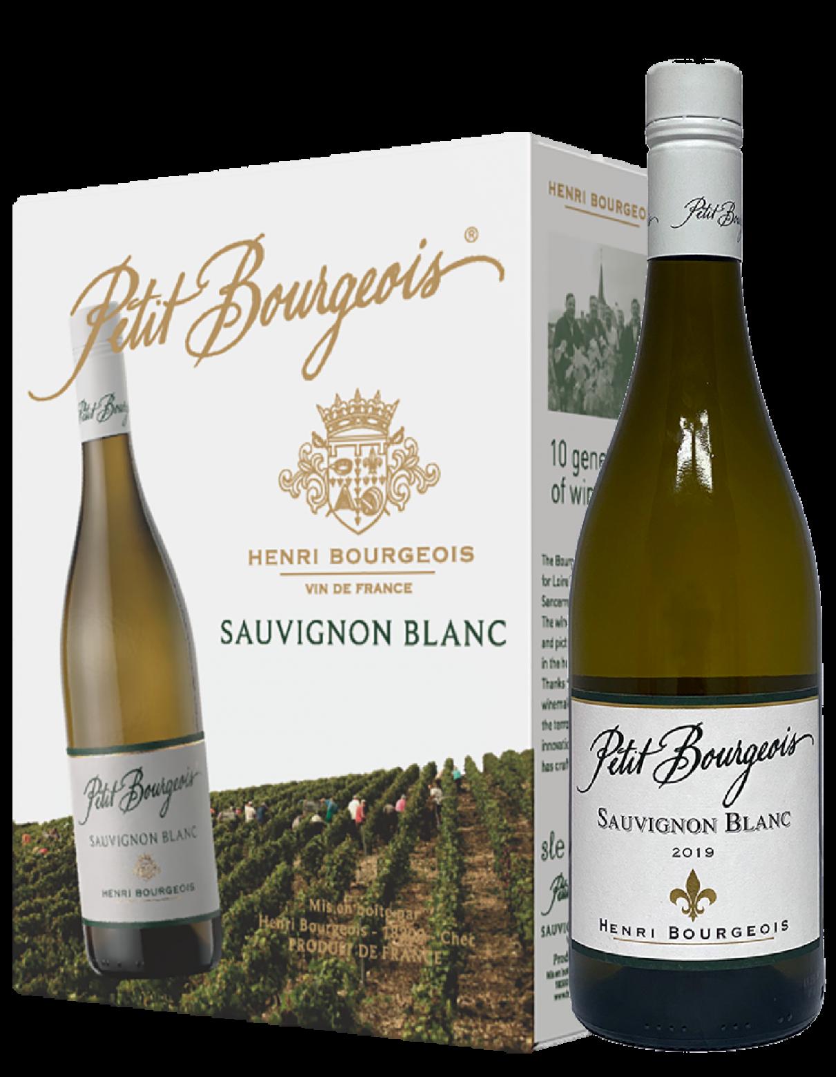 Petit Bourgeois Sauvignon Blanc BIB ja pullo artikkelikuva