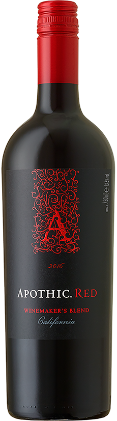 Apothic red wine bottle punaviini pullo