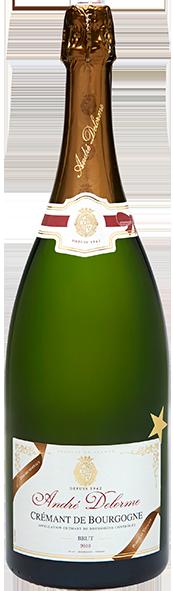 ANDRÉ DELORME - Crémant de Bourgogne - Blanc Brut - Magnum -Edition Noël